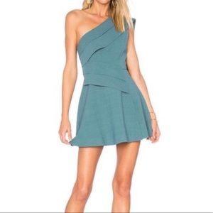 C/MEO COLLECTIVE  DONT STOP DRESS EMERALD GREEN